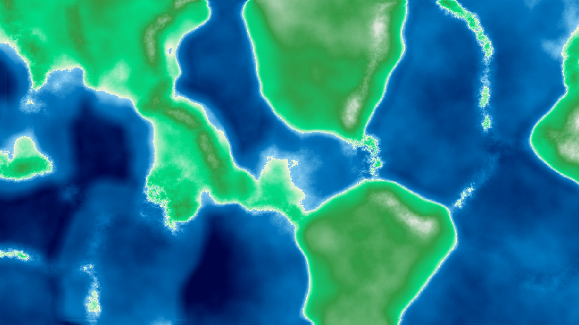 Terrain Generation 4: Plates, Continents, Coasts